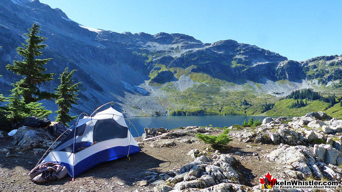 Alpine Zone Tent View, Cirque Lake, Whistler