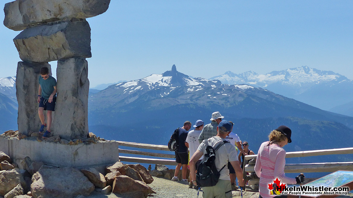 Insukshuck on the Summit of Whistler Mountain