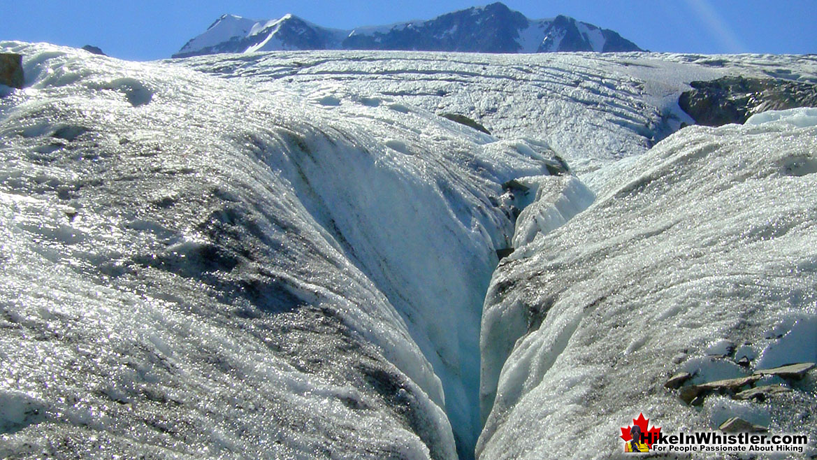Crevasse on Wedgemount Glacier