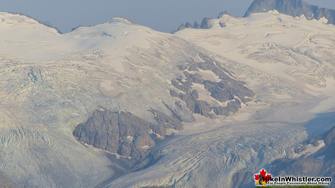 Panorama Ridge View of Glacier Crevasses