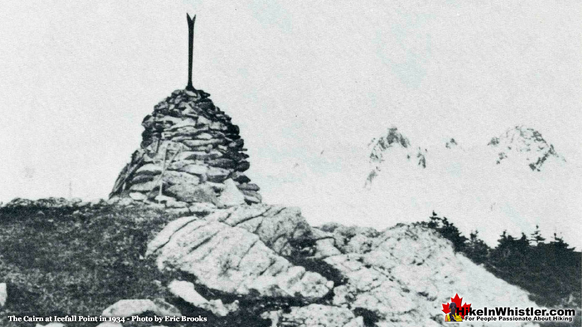 Dalgleish Cairn at Icefall Point 1934