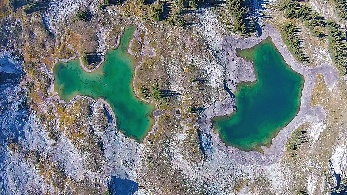 Adit Lakes Tarns Aerial View