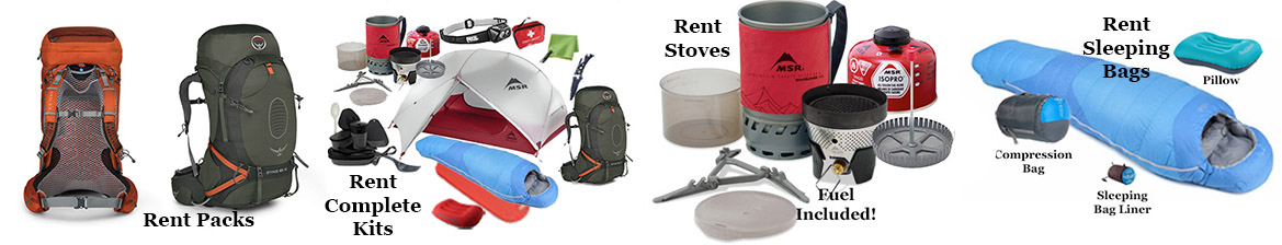 Rent Hiking Gear Whistler and Vancouver