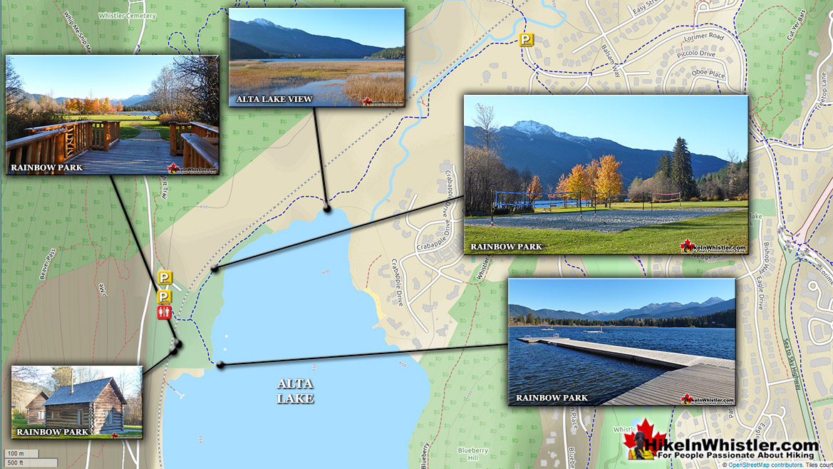 Best Whistler Parks - Rainbow Park Map