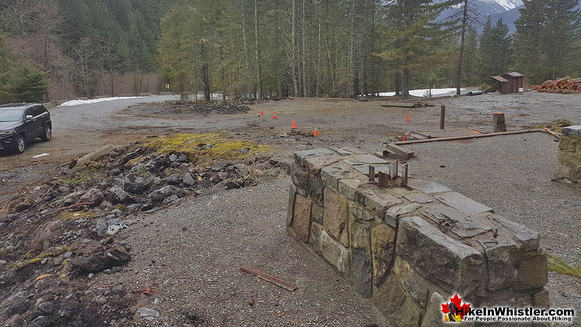 Rubble Creek Trailhead Construction April 2019