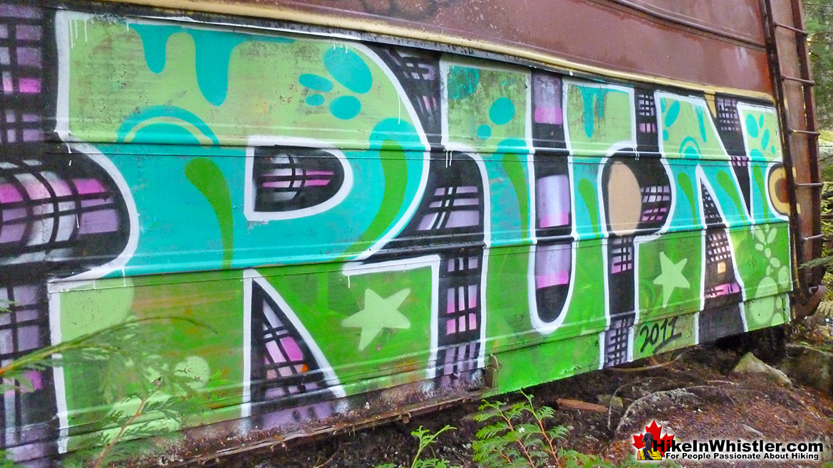 RUN Mural at Whistler Train Wreck