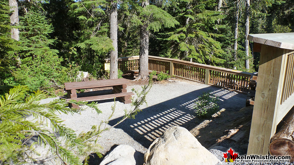 Picnic Tables and Viewing Area at Alexander Falls