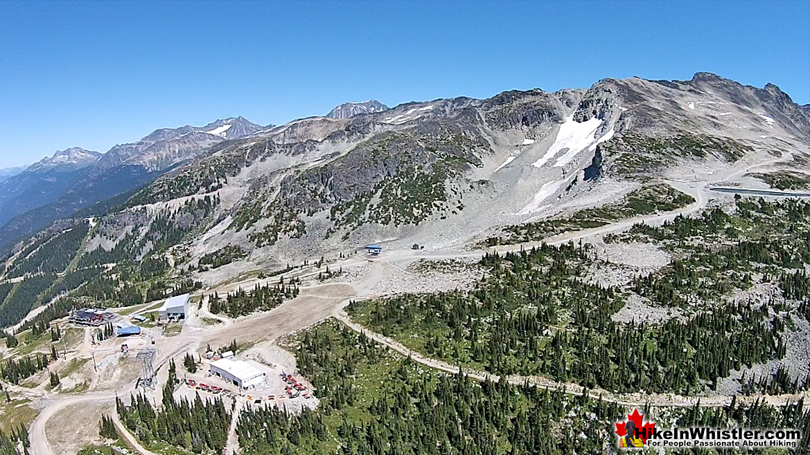 Blackcomb Mountain Aerial of Rendezvous Lodge