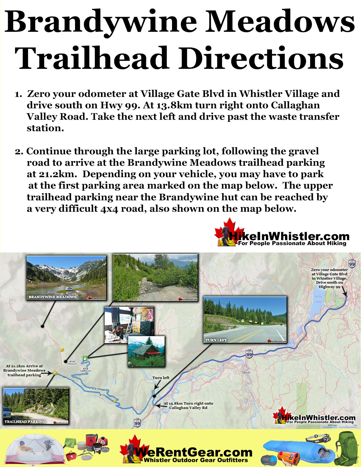 Brandywine Meadows Trailhead Directions Map