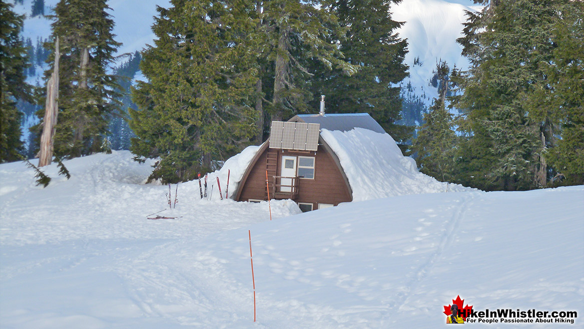 Elfin Lakes Hut Buried in Snow