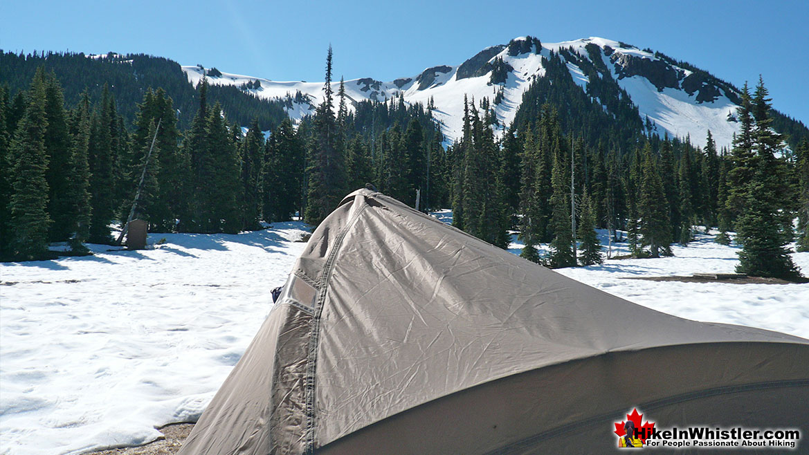 Helm Creek Tent View