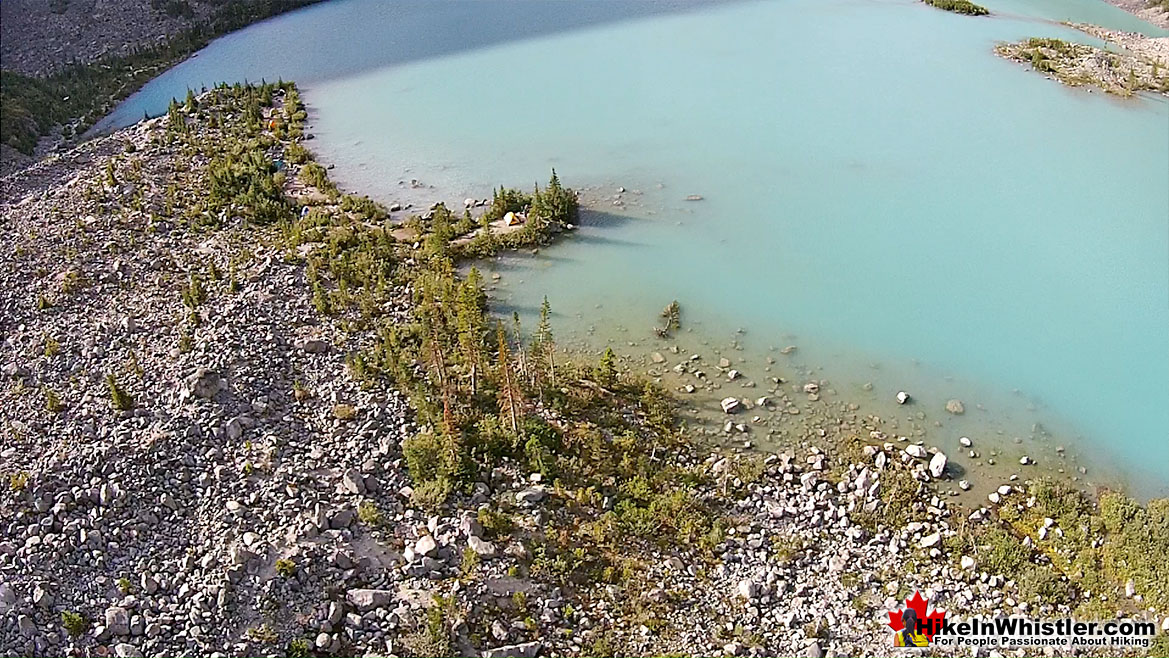 Joffre Lakes Aerial View 31