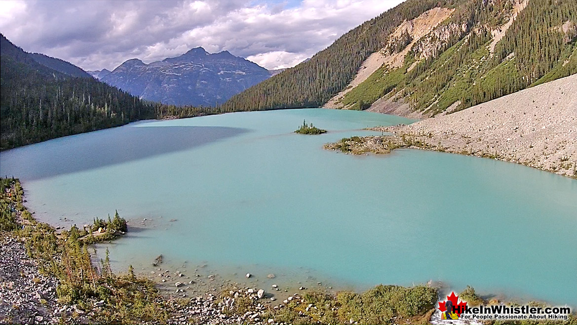 Joffre Lakes Aerial View 33