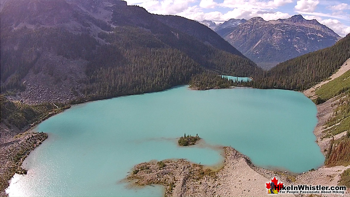 Joffre Lakes Aerial View 34