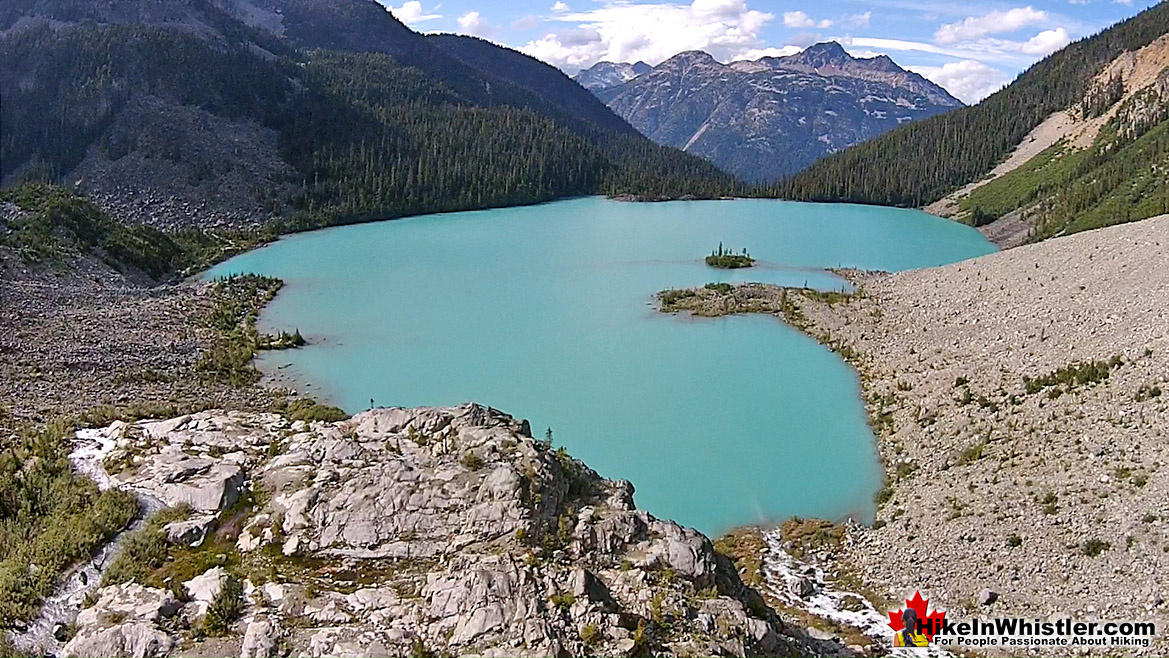 Joffre Lakes Aerial View 40