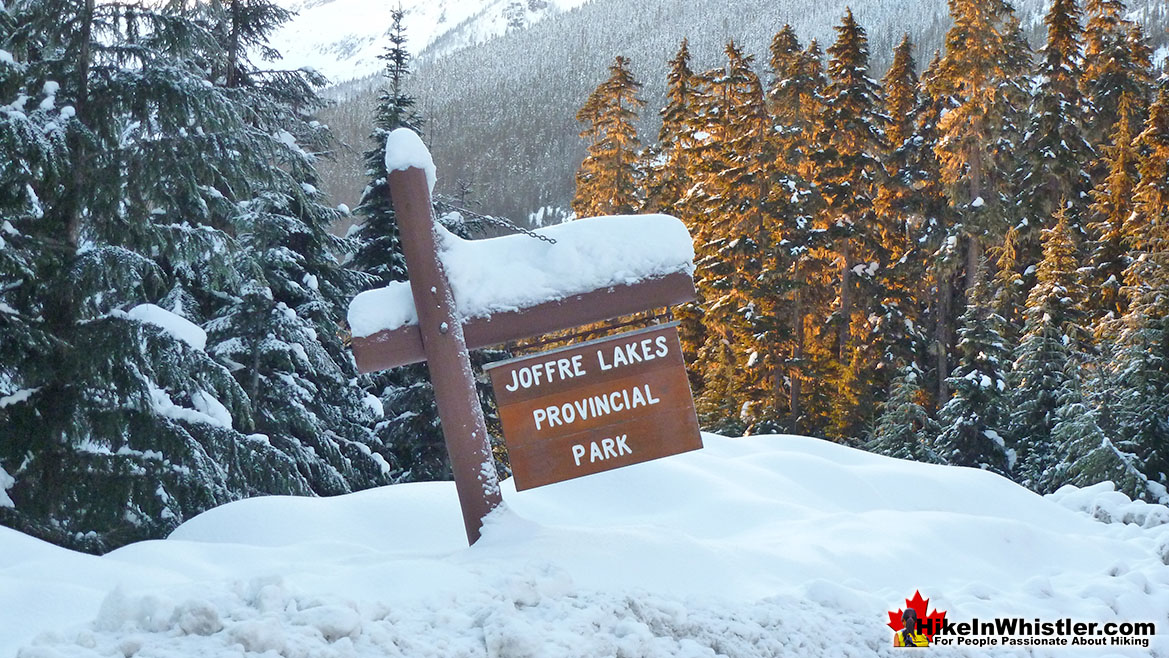 Joffre Lakes Parking in Winter