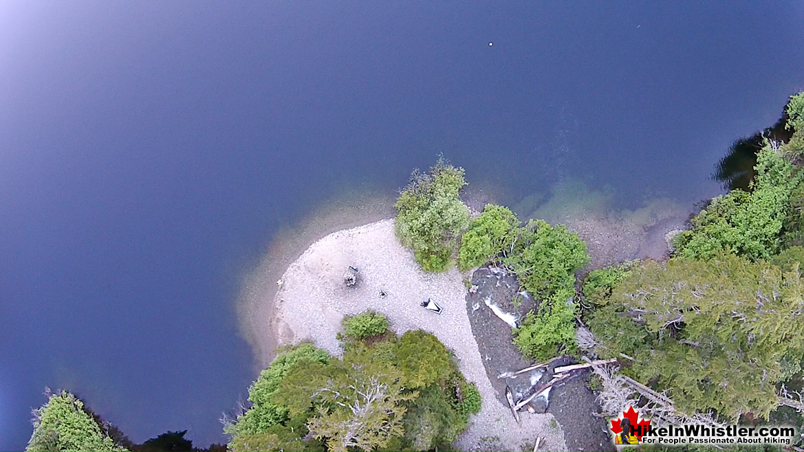 Madeley Lake Beach Aerial View