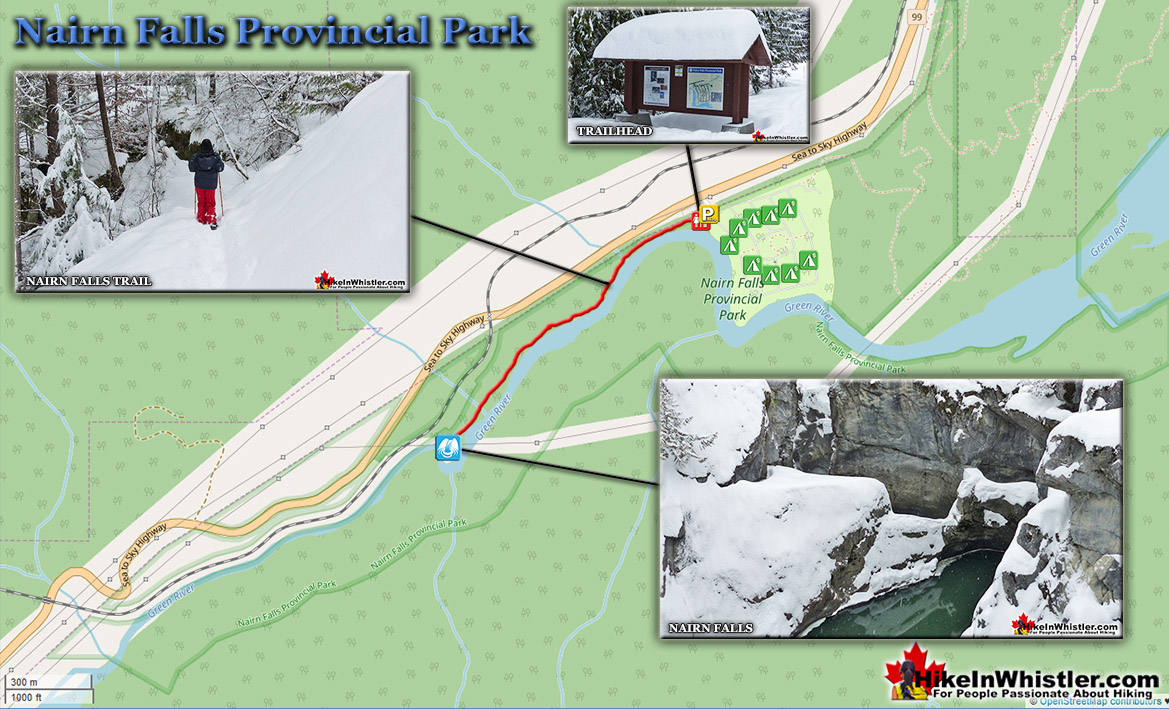 Nairn Falls Snowshoeing Trail Map