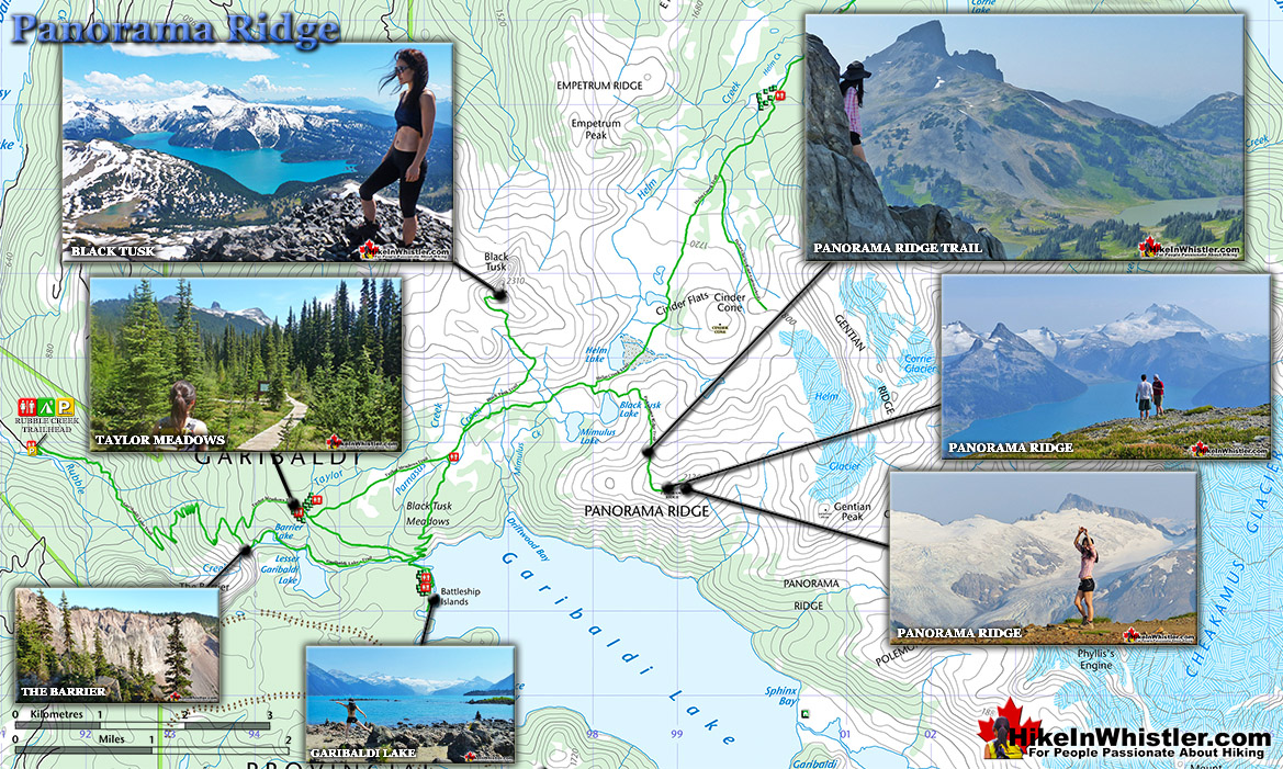 Panorama Ridge Map Best Whistler Hiking