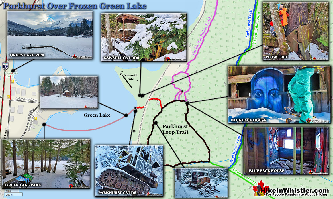 Parkhurst Frozen Green Lake Map