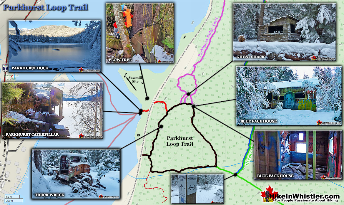 Parkhurst Loop Trail Winter Map