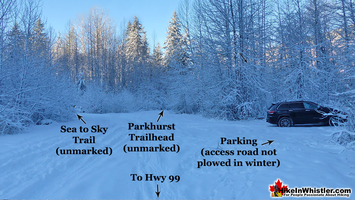 Parkhurst Parking and Trailhead