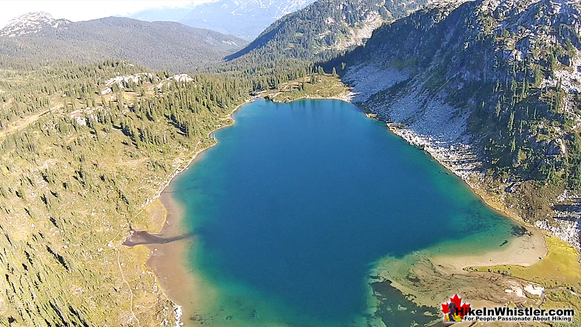 Rainbow Lake Aerial View