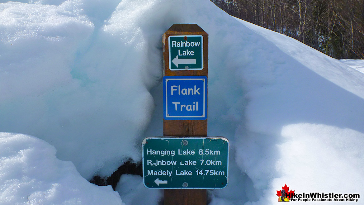 Rainbow Sproatt Flank Trail Sign