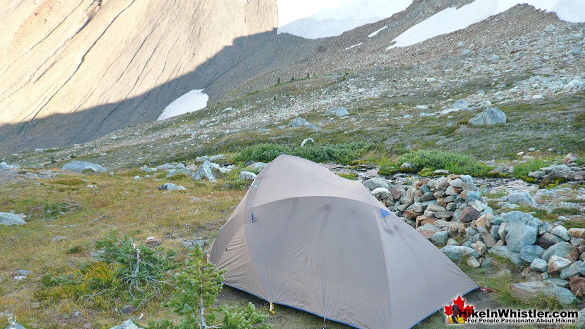 Campsite at Russet Lake
