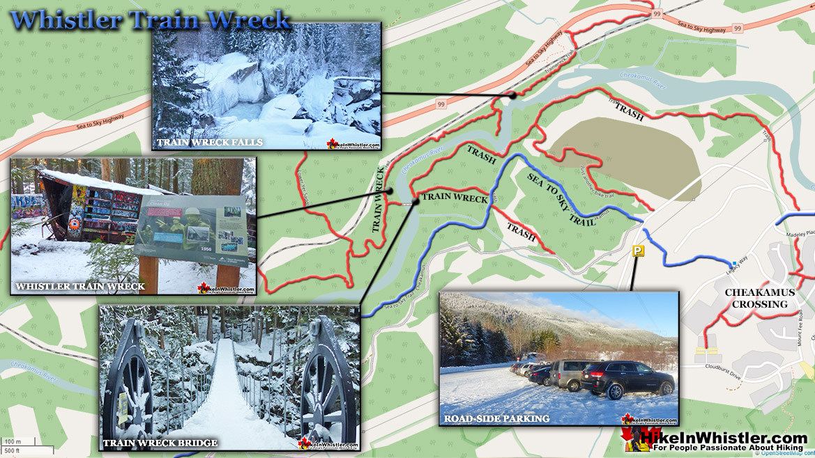 Whistler Train Wreck Map Winter