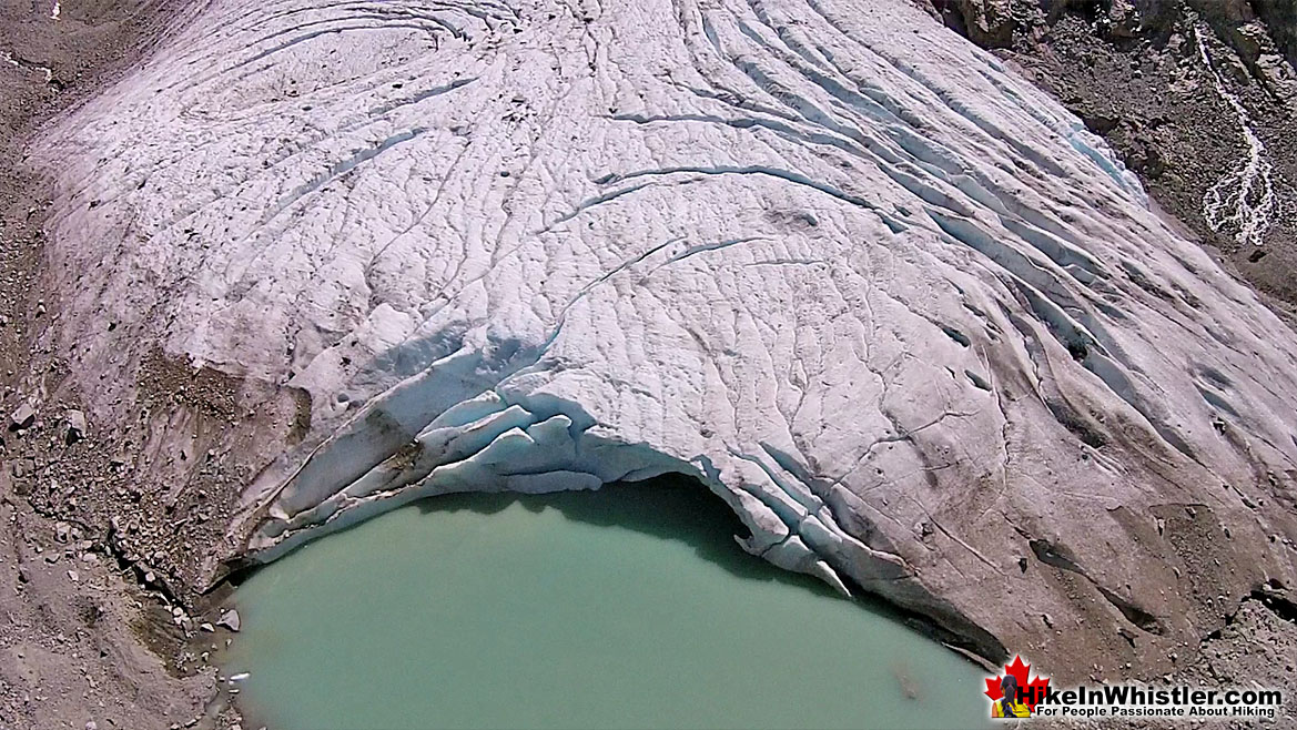 Wedgemount Lake Aerial View of Wedge Glacier