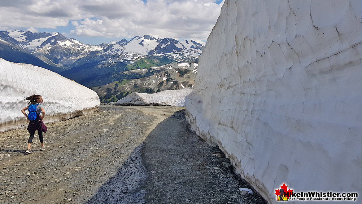 Whistler Mountain Mathews Traverse Ice Walls